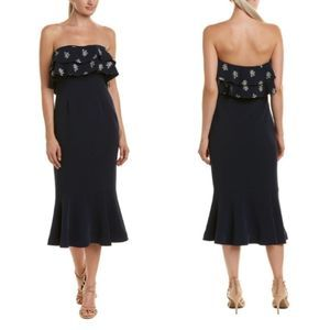 NEW Cinq a Sept Eza Strapless Ruffle Midi Dress 4